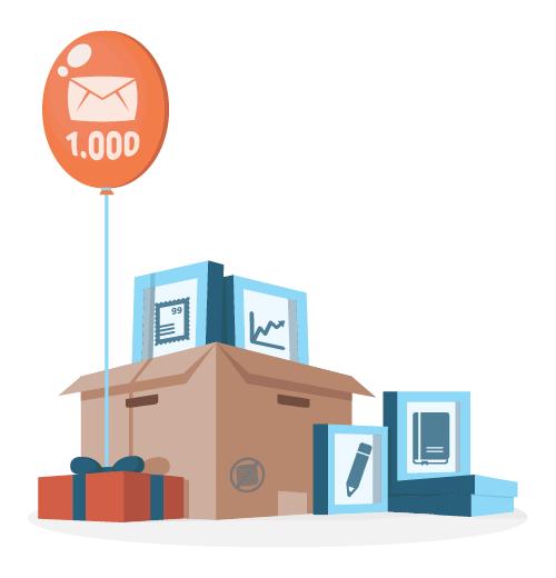 Invio di 1000 email gratuite al mese