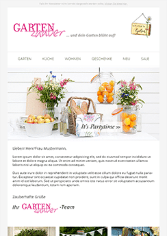 Template newsletter Newsletter2Go
