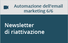 Newsletter di riattivazione account