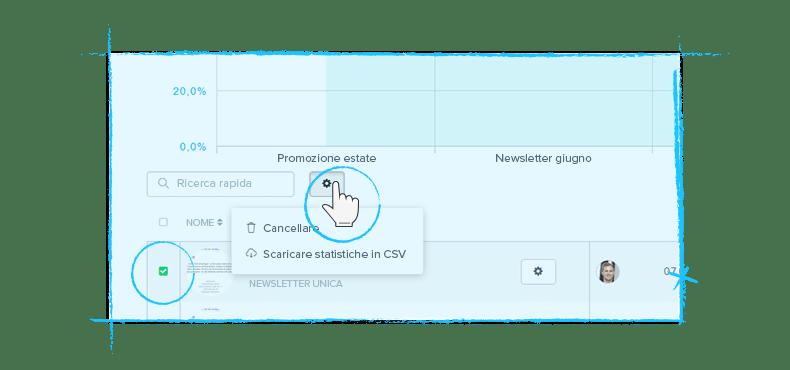 Esportazione statistiche in CSV - Dashboard Newsletter2Go