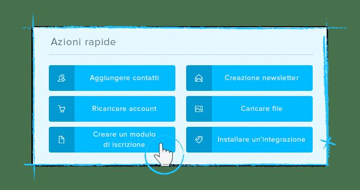 Azioni rapide - Dashboard Newsletter2Go