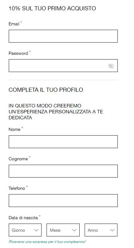 Disegual modulo iscrizione Newsletter2Go